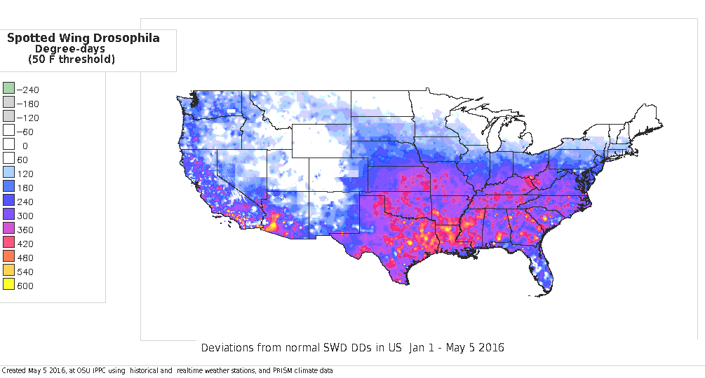SWD US difference from 30-yr normals this year to date